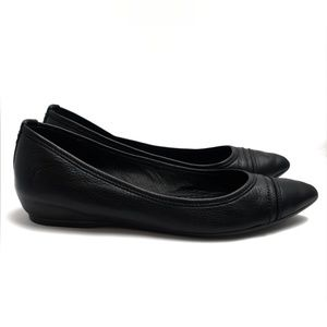 Frye ALICIA Black Leather Ballet Flats, Size 9 M
